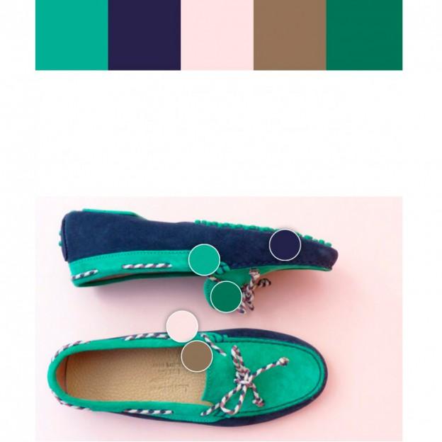 446135cb3267a Mocasines. Colores y contrastes